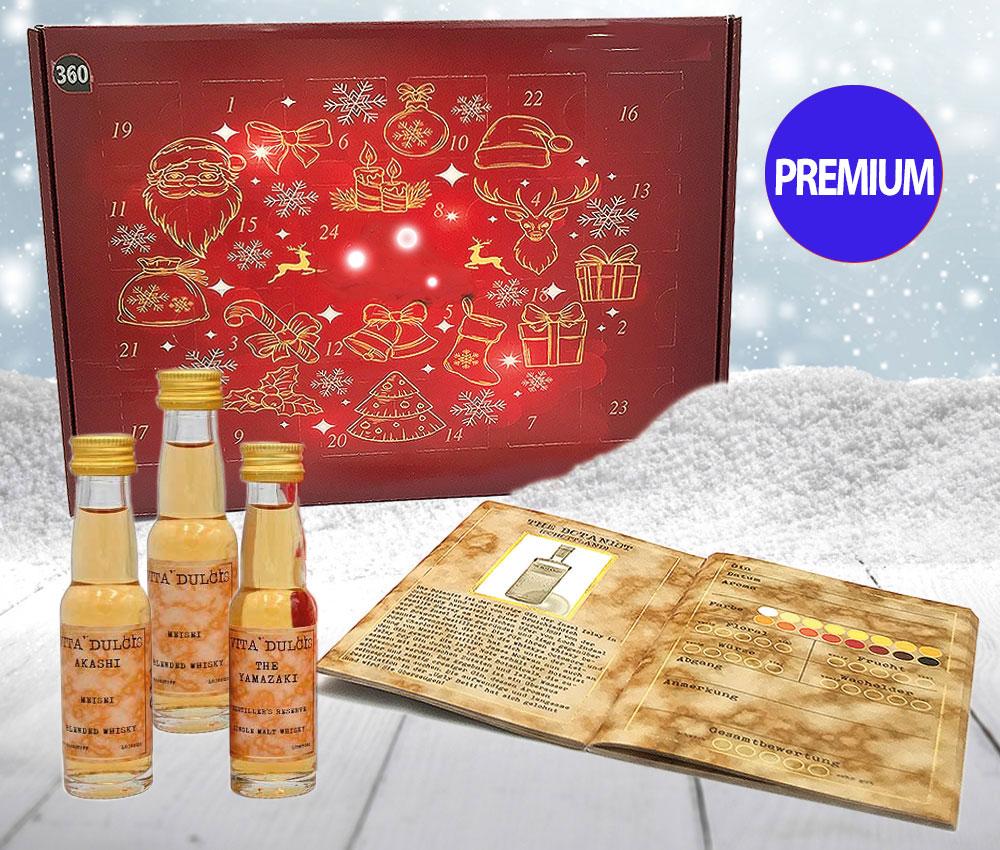 Gin Adventskalender Premium - Edition 2020 24 Gin's aus 17 Ländern